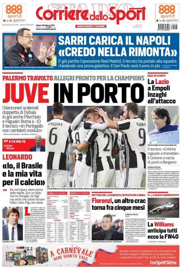 Corriere Dello Sport 18 Febbraio 2017