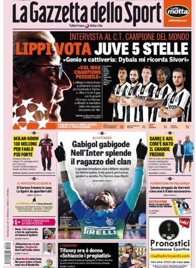 Gazzetta Dello Sport 21 Febbraio 2017