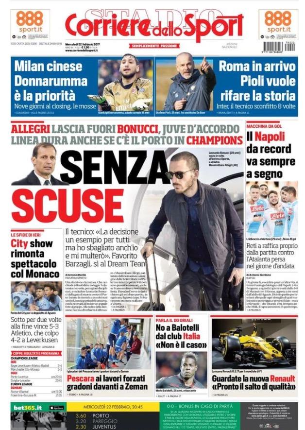 Corriere Dello Sport 22 Febbraio 2017