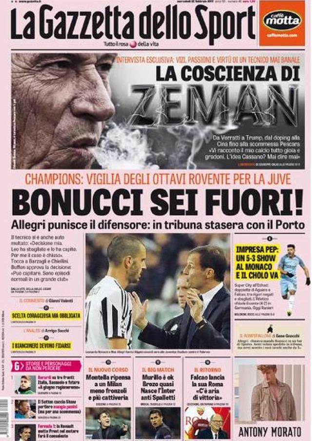 Gazzetta Dello Sport 22 Febbraio 2017