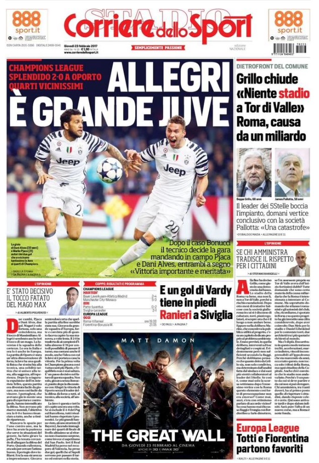 Corriere Dello Sport 23 Febbraio 2017