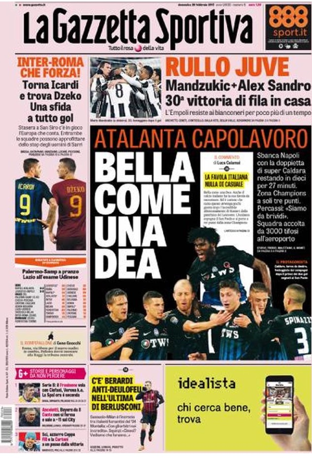 Gazzetta Dello Sport 26 Febbraio 2017