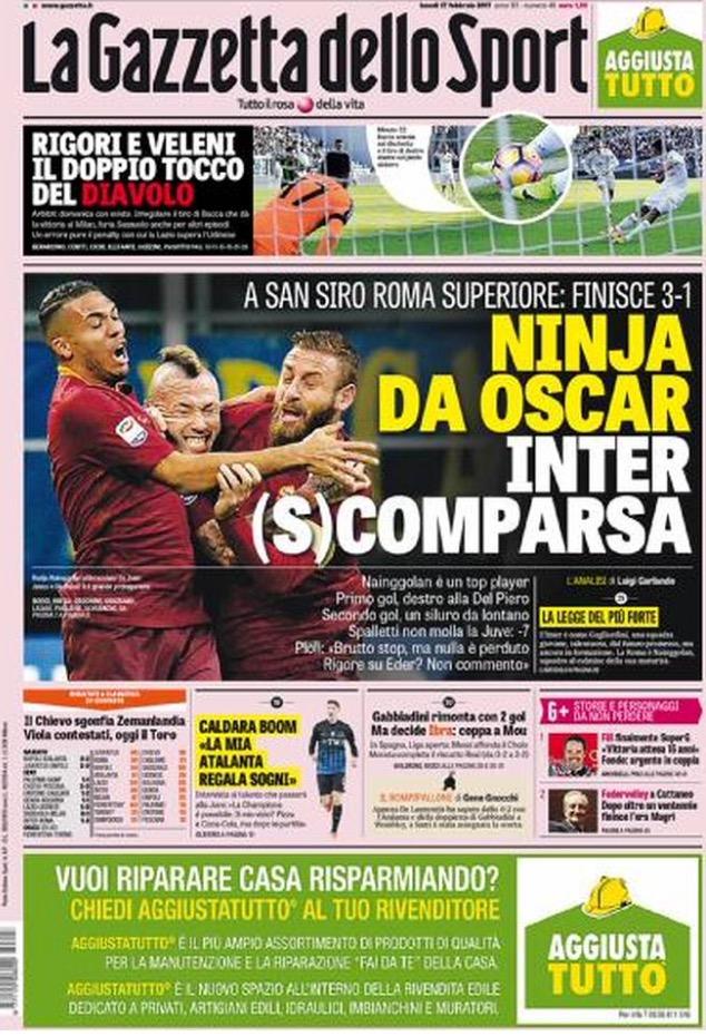 Gazzetta Dello Sport 27 Febbraio 2017