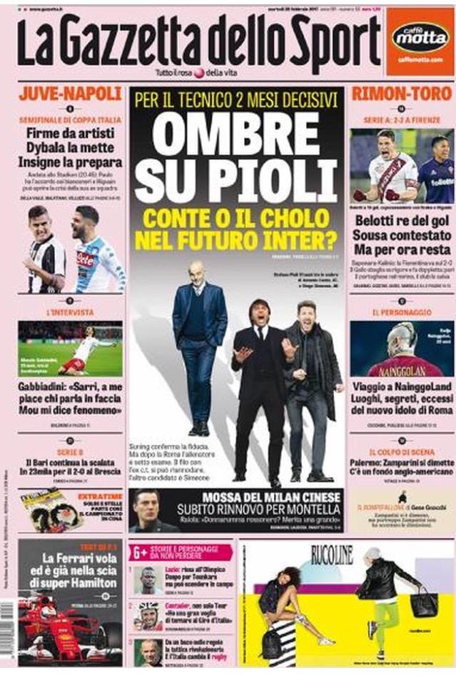 Gazzetta Dello Sport 28 Febbraio 2017