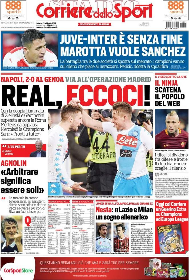 Corriere Dello Sport 11 Febbraio 2017