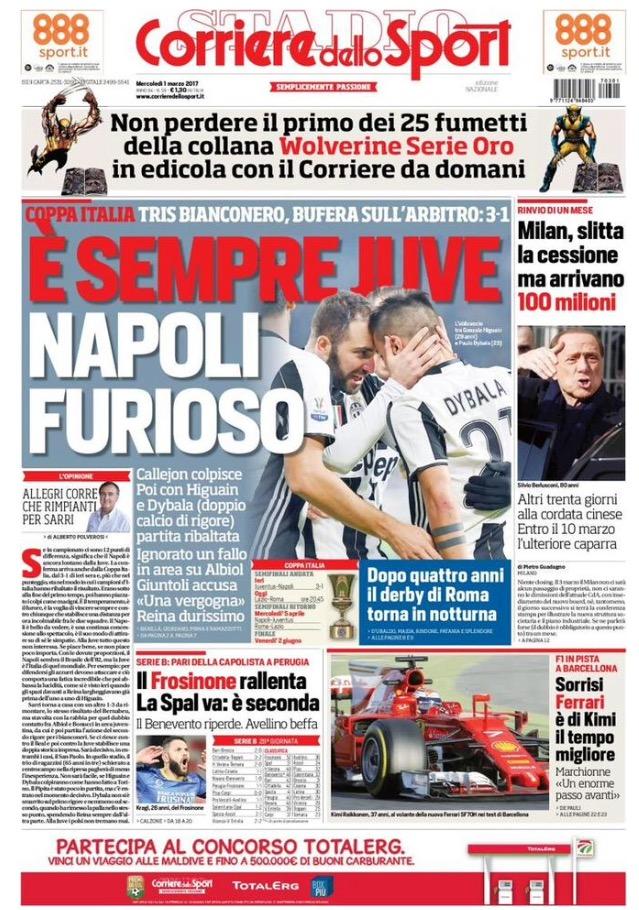 Corriere Dello Sport 1 Marzo 2017