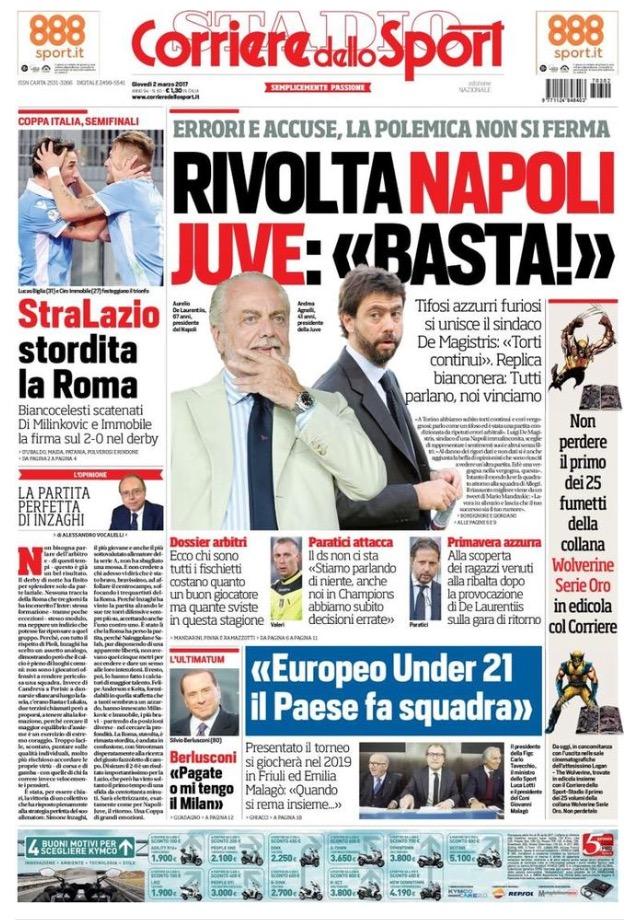 Corriere Dello Sport 2 Marzo 2017