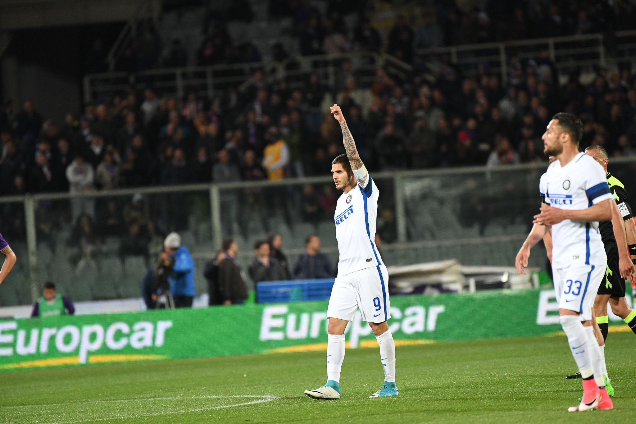 Icardi porta in vantaggio l'Inter al 10' della ripresa, difesa immobile