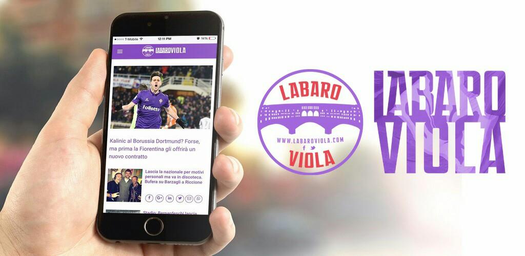 È finalmente uscita l'app di Labaroviola, disponibile sia per Apple che per Android