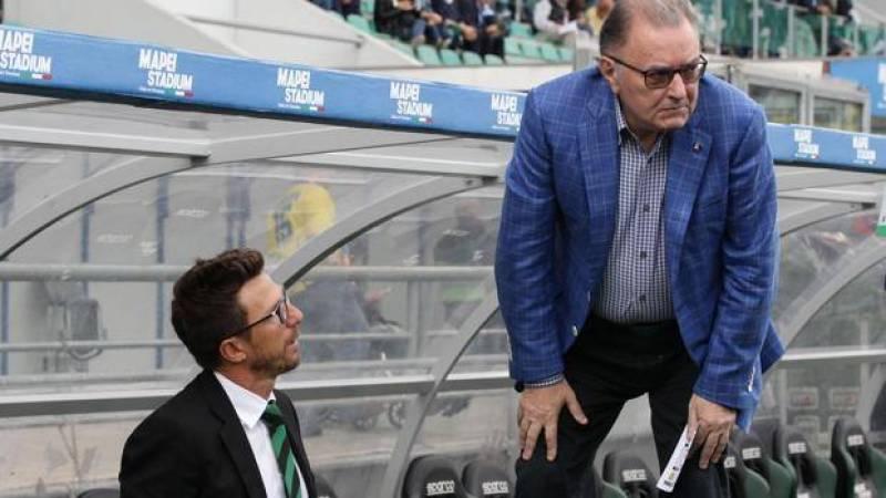 """Squinzi: """"DiFra via? No, ha un contratto e una clausola. Resta per puntare alla Champions"""""""
