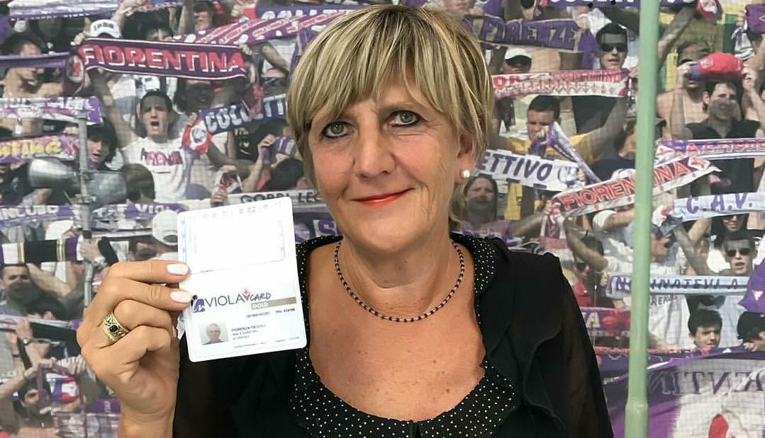 Si chiama Fiorenza Fiesoli la prima abbonata viola allo stadio per la nuova stagione della Fiorentina