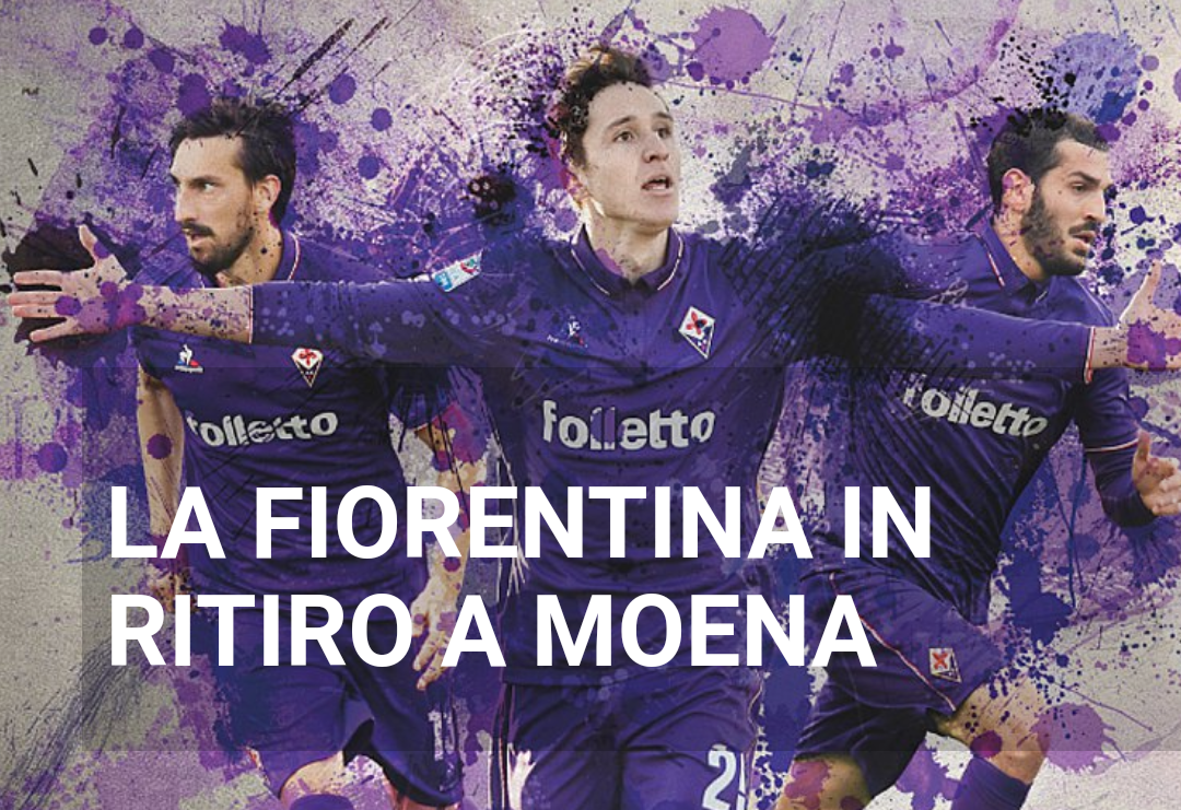 Dal cartellone pubblicitario della Fiorentina a Moena spariscono Kalinic, Borja Valero e Bernardeschi