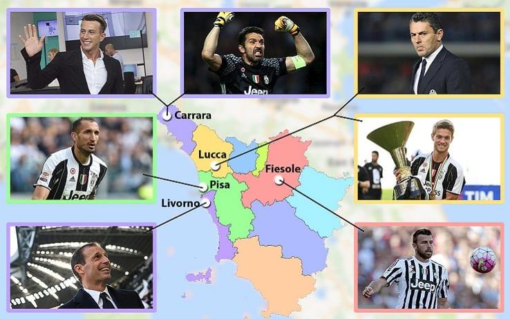 La squadra più Toscana della serie A? Non è la Fiorentina ma proprio la Juventus. Sette in totale i nati nella regione viola