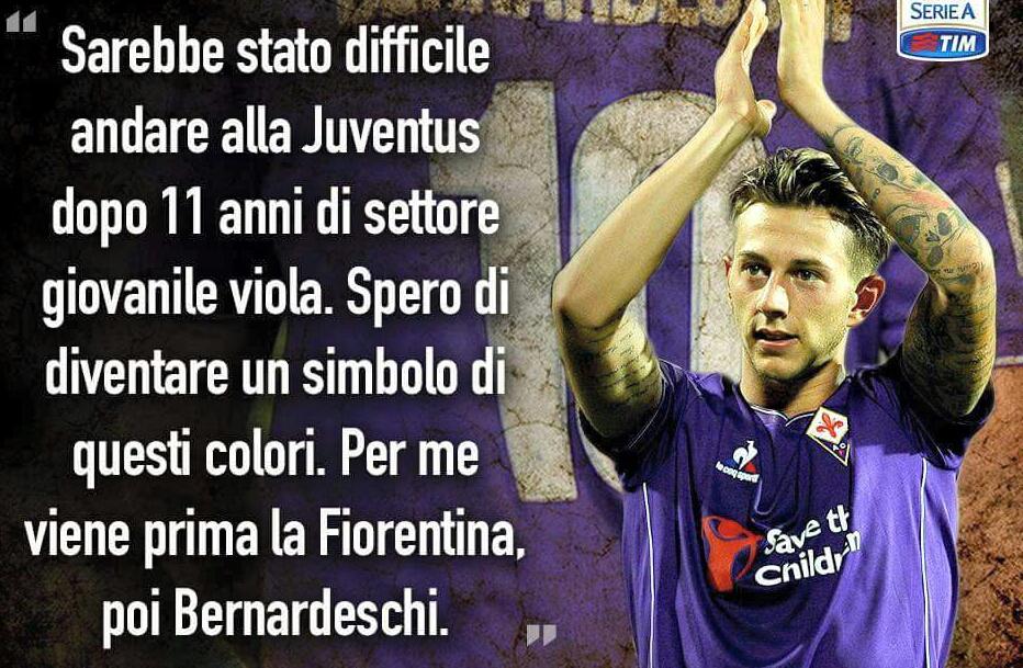 """Quando Bernardeschi diceva: """"Non posso andare alla Juventus dopo undici anni a Firenze. Prima di me viene la Fiorentina"""""""