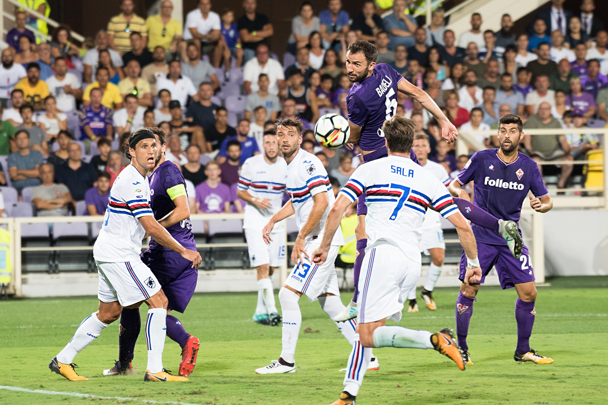 Fiorentina a – 10 dall'Europa: la Samp vola, remuntada quasi impossibile a 14 giornate dalla fine
