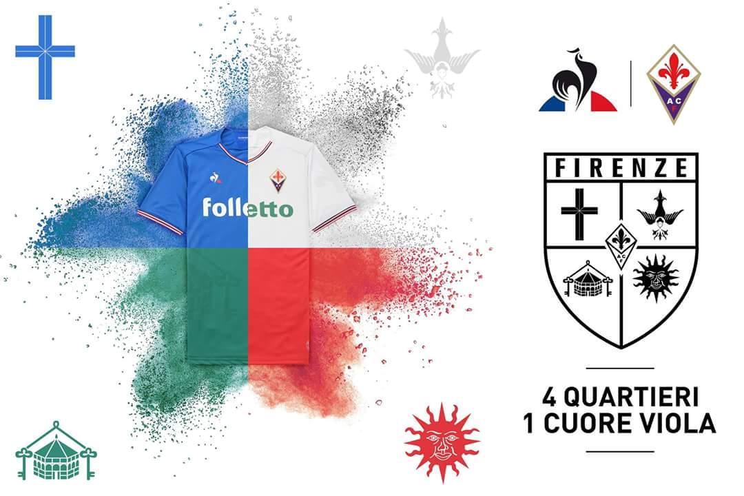 A San Siro la Fiorentina scenderà in campo con la maglia bianca in onore di Santo Spirito vincitore del calcio storico a Firenze