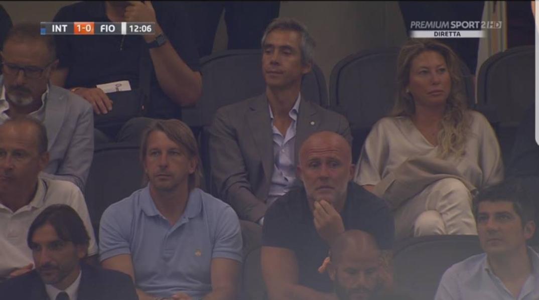 Paulo Sousa ieri a San Siro, ancora senza squadra il portoghese si diverte ad andare in giro per gli stadi d'Italia