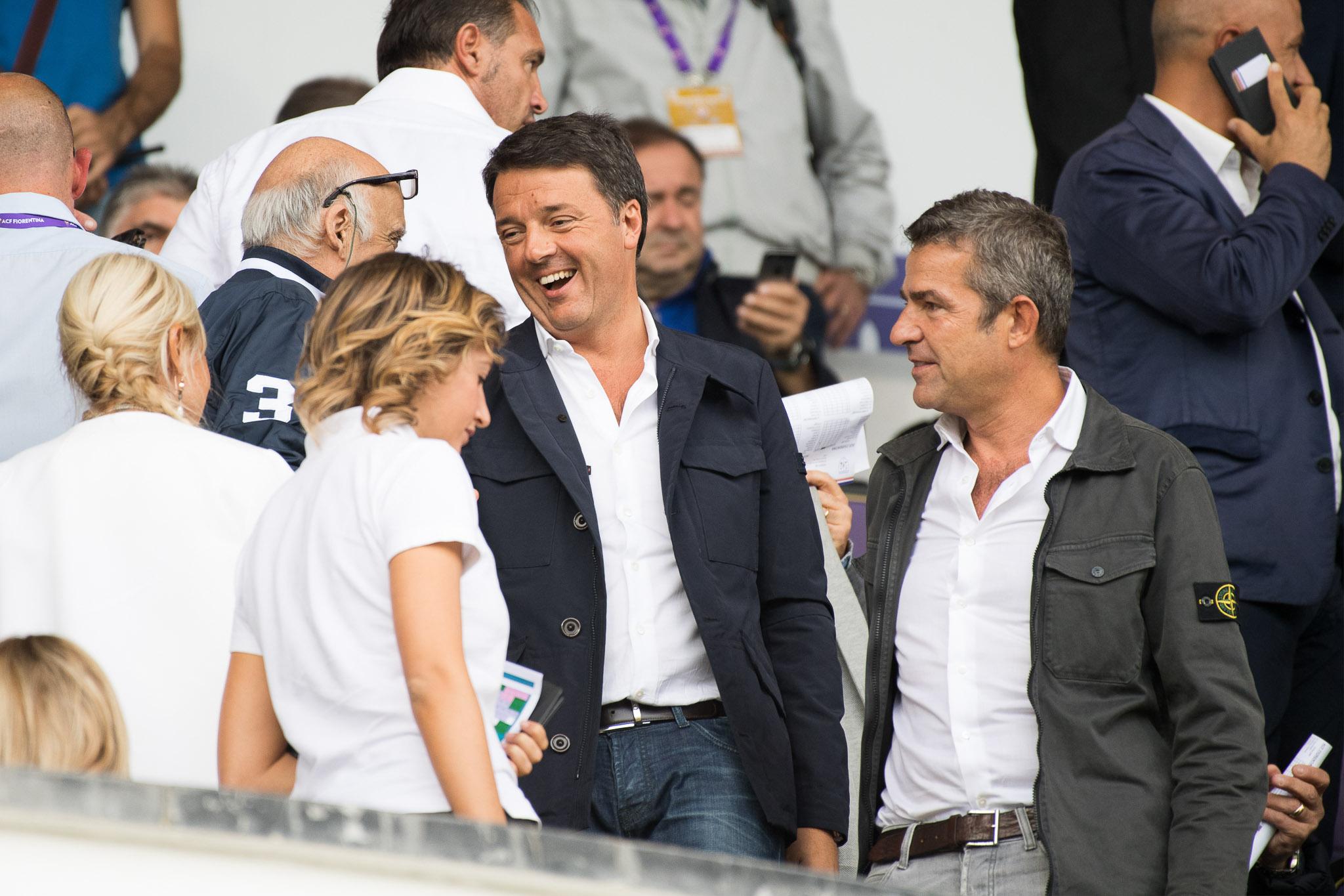 """Renzi: """"Lo stadio della Fiorentina si farà ma prima viene l'aeroporto. Spero che i Della Valle…"""""""