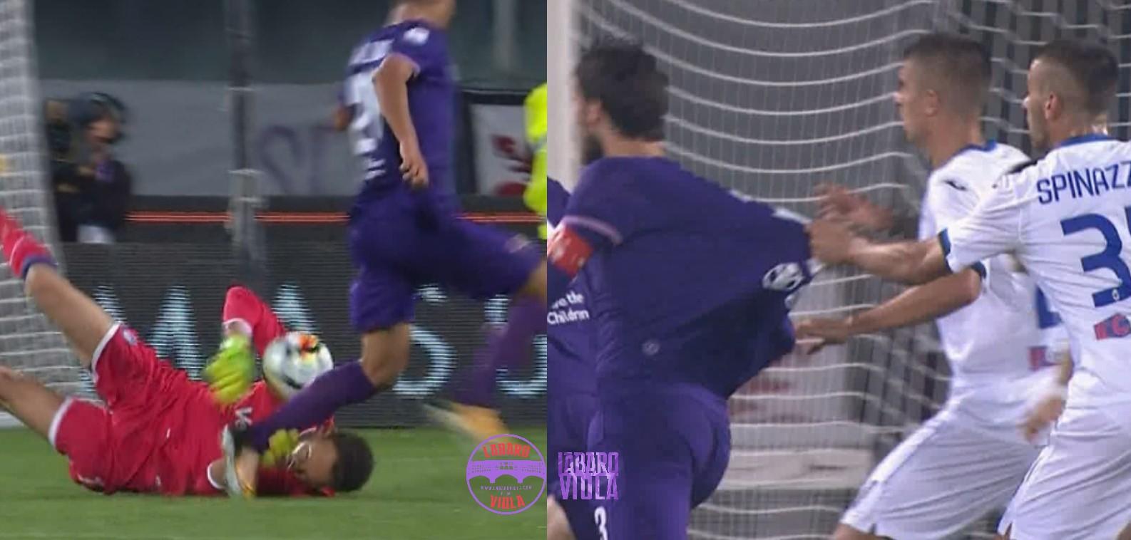Moviola Gazzetta, il rigore all'Atalanta non c'è e alla Fiorentina ne mancano due. Pairetto perche non hai usato il Var?