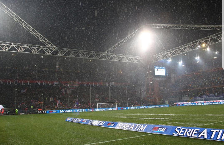 Piove a Genova, verso il rinvio Sampdoria – Roma. In arrivo la comunicazione ufficiale
