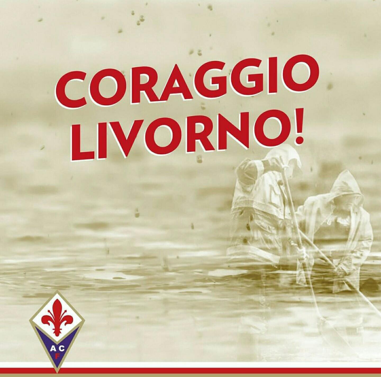 """ACF, sui social al grido di """"Coraggio Livorno!"""" in seguito all'alluvione che ha devastato la città"""