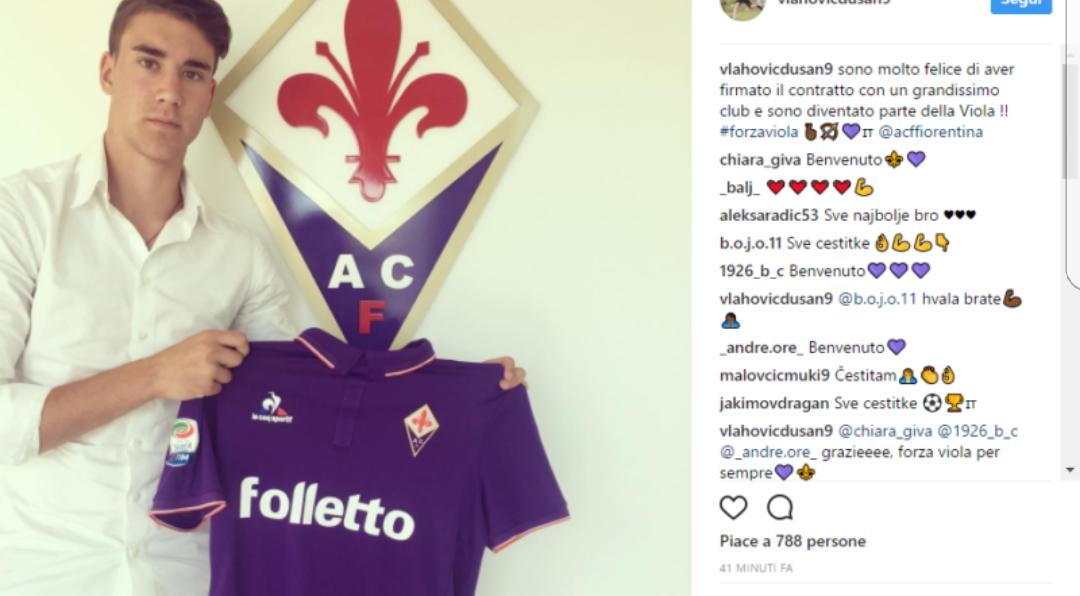 Ecco Vlahovic, l'Ibrahimovic dei balcani che non vede l'ora di arrivare a Firenze. Da gennaio sarà della Fiorentina