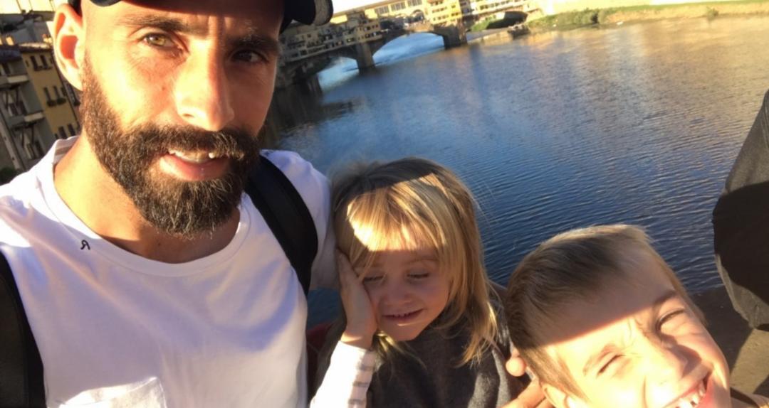 Borja Valero sfrutta la pausa per le nazionali per passare un week end a Firenze con la sua famiglia