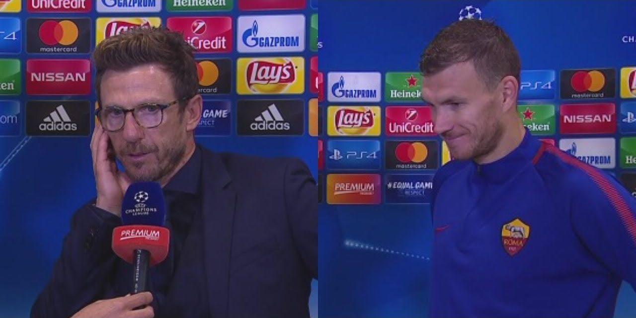 """Di Francesco: """"Dzeko come Batistuta? No, Edin ha più qualità. Assomiglia a Van Basten per come gioca con la squadra"""""""