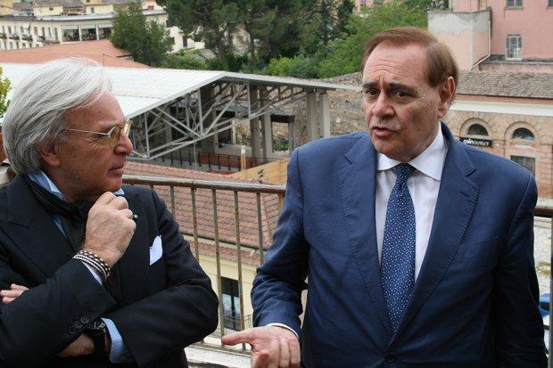 """Mastella scherza con Diego Della Valle: """"Tu che sei un amico, lasciaci qualche punto"""""""