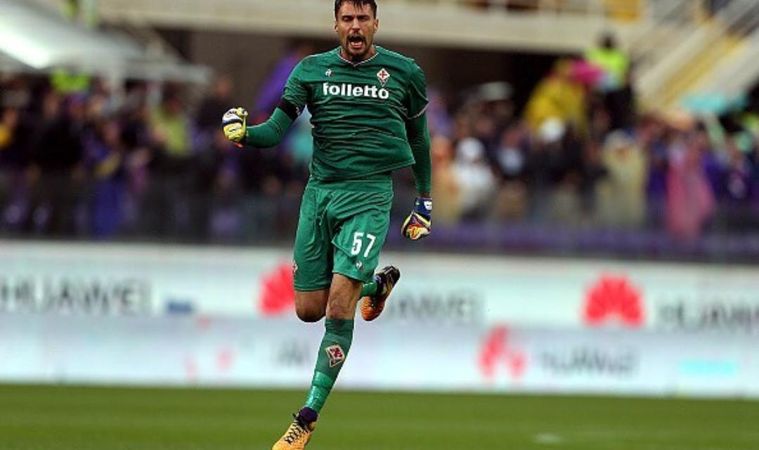 """Sportiello: """"100 presenze in serie A, obiettivo farne altre 100 con la maglia della Fiorentina"""""""