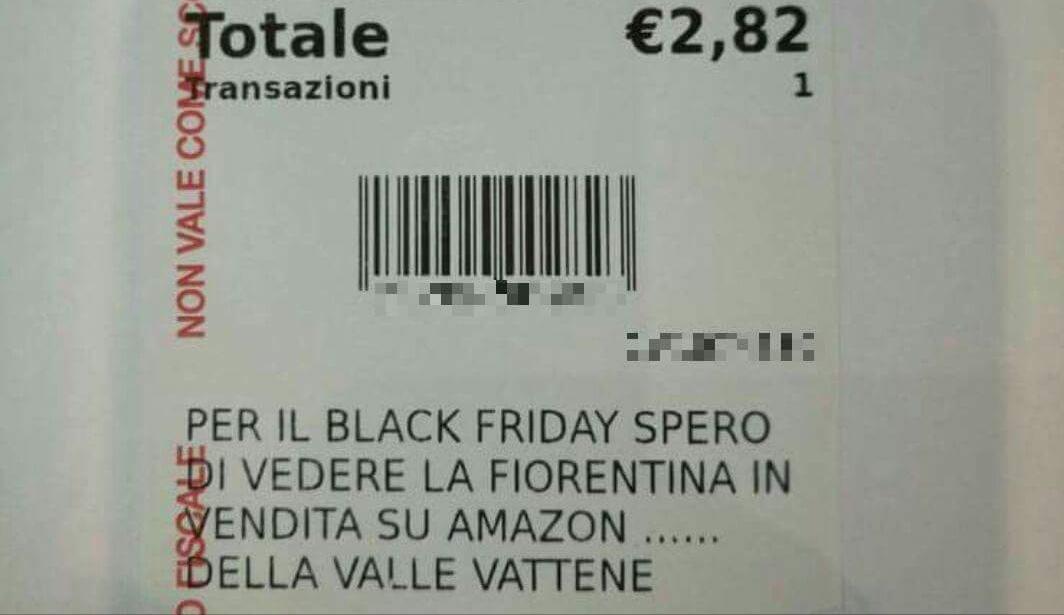 """Black Friday, scontrino contro i Della Valle: """"Spero di vedere la Fiorentina in vendita su Amazon"""""""