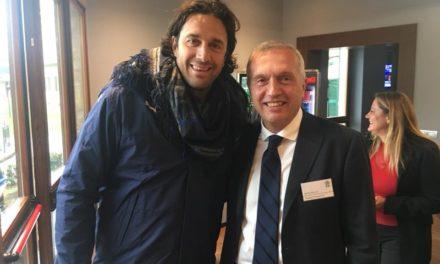Luca Toni e Sandro Mencucci insieme a Coverciano per un evento dedicato al calcio femminile