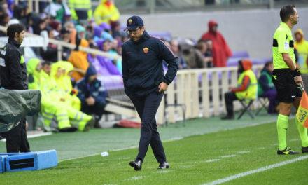 """Di Francesco: """"Crossiamo ma non segnamo. I viola invece 2 tiri e due gol. Ci mancano uomini.."""""""