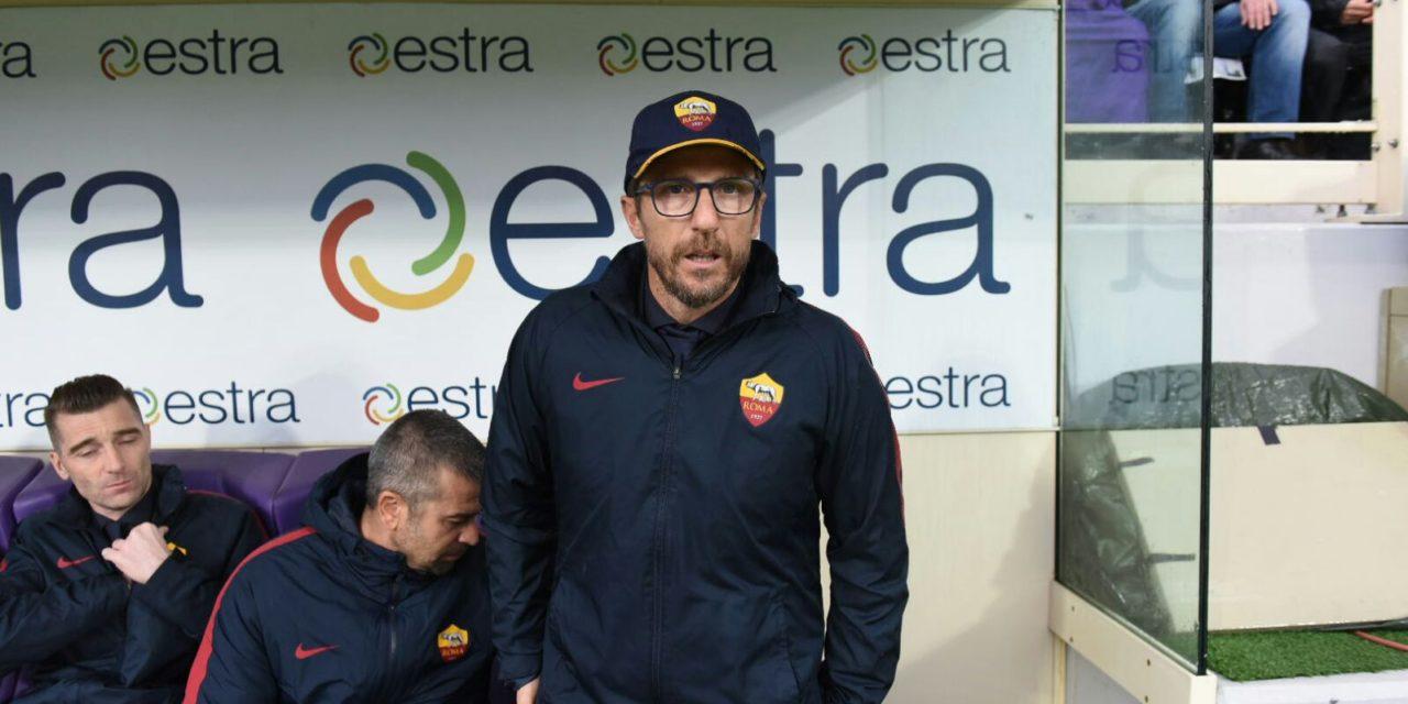 """Di Francesco: """"Complimenti alla Fiorentina, ottimo primo tempo. Avevo paura di Firenze, qui non è facile vincere"""""""
