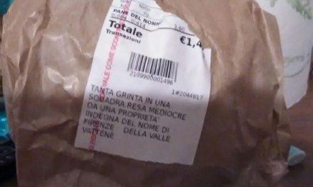 La contestazione dei tifosi viola arriva in supermercato, sullo scontrino parole contro i Della Valle