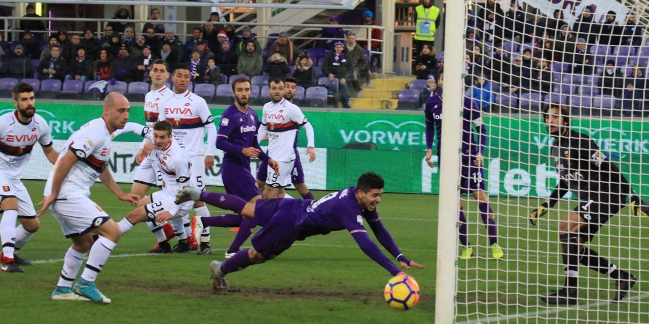 """La Fiorentina sbatte sul muro del Genoa e al """"Franchi"""" finisce a reti bianche"""