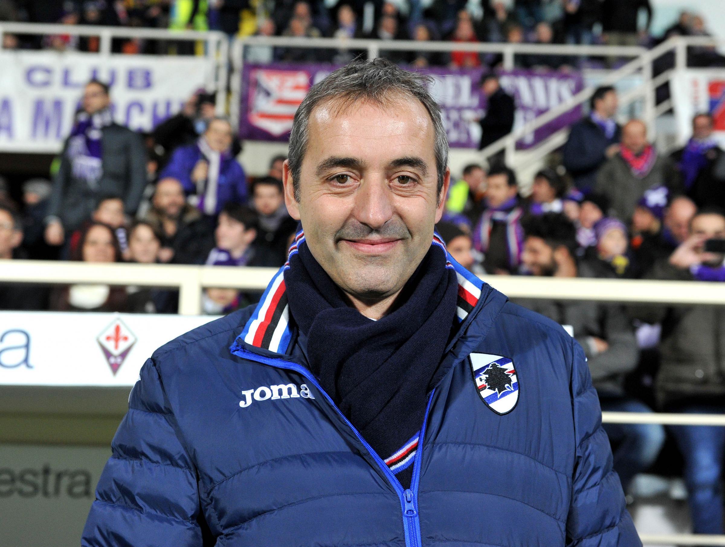 Giampaolo sulla panchina della Sampdoria