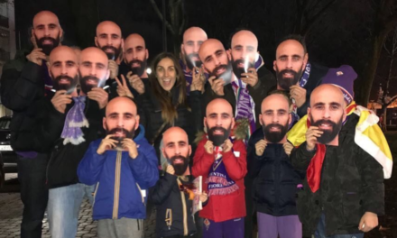 Allo stadio Franchi maschere con la faccia di Borja Valero per gli amici fiorentini dello spagnolo