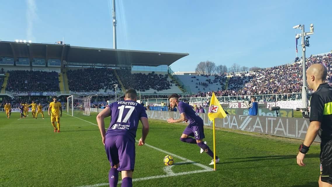 Fiorentina che incubo. Dopo 45' è avanti il Verona per 0-2 disastro collettivo