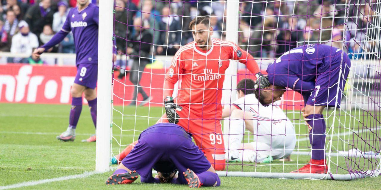 La Fiorentina non prende mai lo specchio della porta, servono almeno 10 tiri prima di trovare il gol