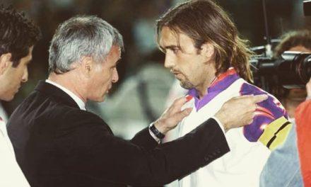 """Quando Batistuta si fece aprire il campo per allenarsi da solo. Ranieri: """"Fiorentina l'amore più grande"""""""