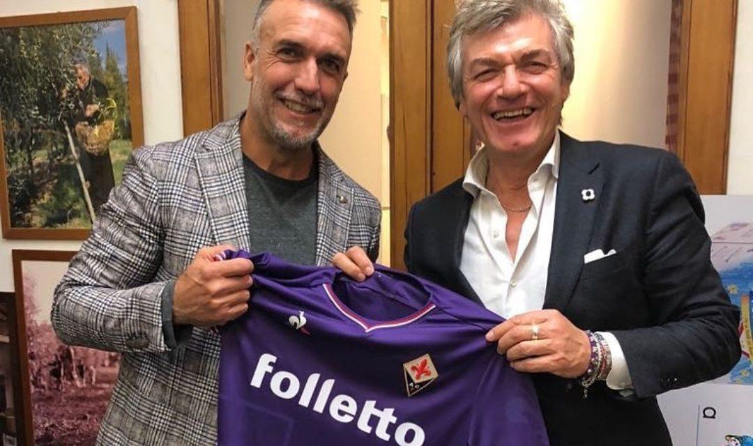 FOTO, Antognoni e Batistuta con la maglia viola, la storia della Fiorentina in una sola foto