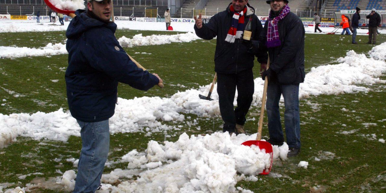 Firenze si sveglia sotto la neve e ACF ricorda la tasferta di Gubbio, le foto del marzo 2003…