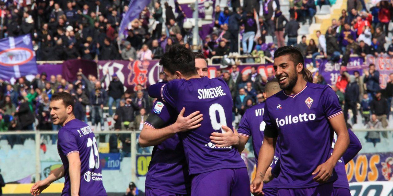 Lampo di Simeone in avvio e la Fiorentina è avanti 1-0 sul Crotone. La cronaca della prima frazione…