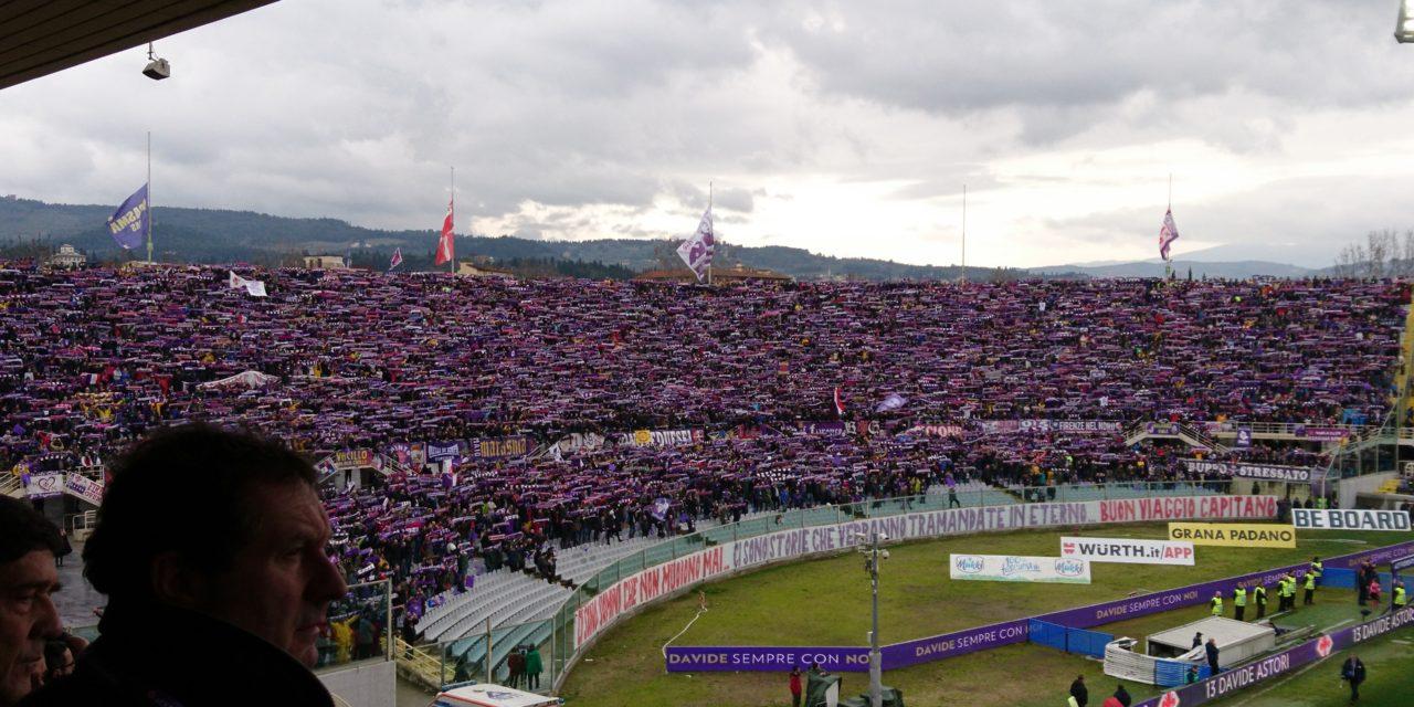 Il racconto del minuto di silenzio di Fiorentina-Benevento. Mai visto niente di tanto bello…
