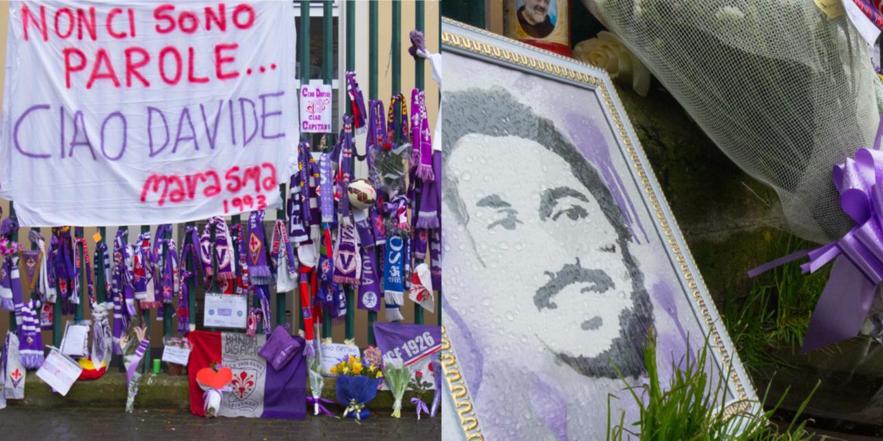 FOTO, Fuori dal Franchi è una processione di gente. Sciarpe, messaggi, bandiere, fiori, lettere