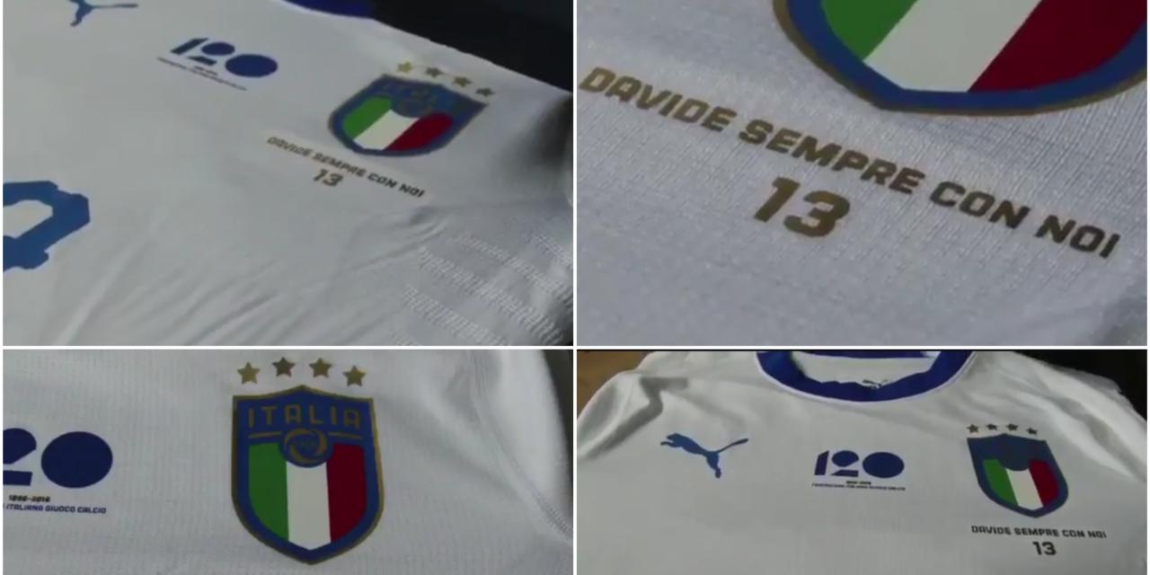 FOTO, la maglia speciale dell'Italia in onore di Astori per la partita contro l'Argentina
