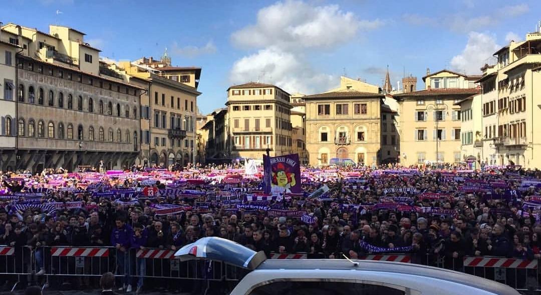 Il Messaggero: commovente addio ad Astori, in migliaia a Firenze