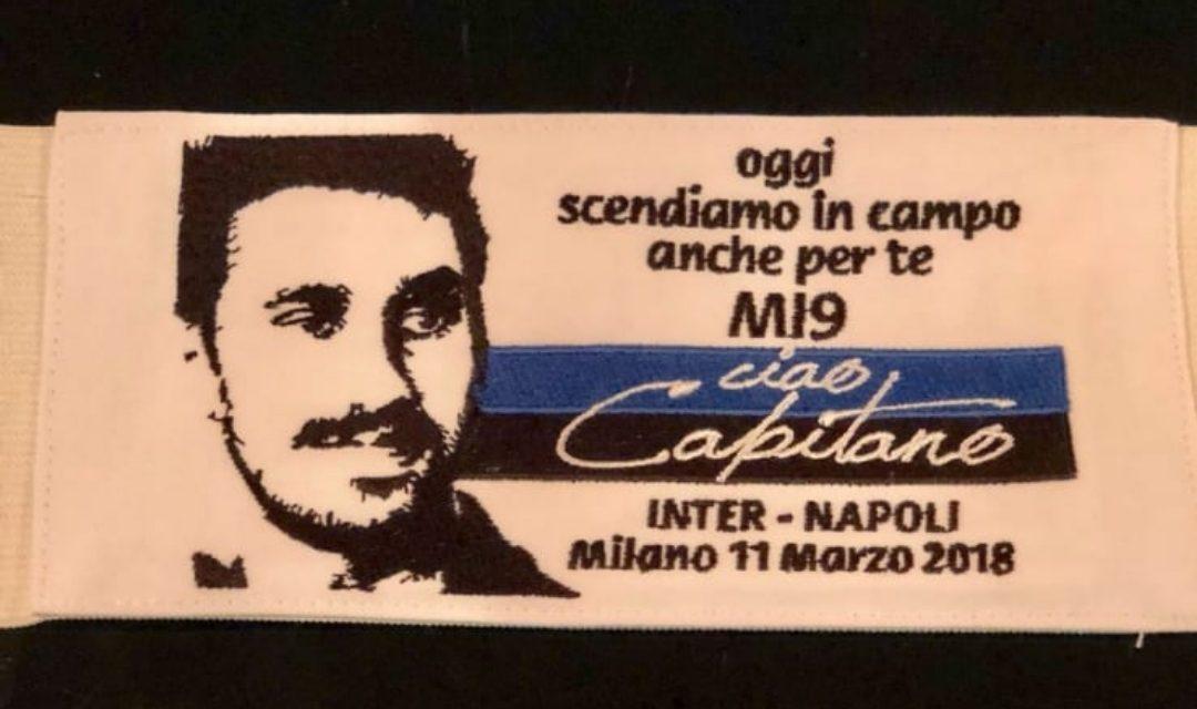 """La fascia di Icardi in onore di Astori: """"Oggi scendiamo in campo per te"""""""