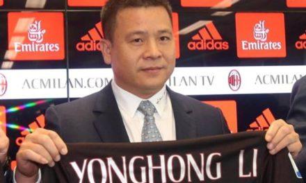 Milan nei guai, la società di Yonghong Li è fallita, il suo patrimonio sarà commissariato